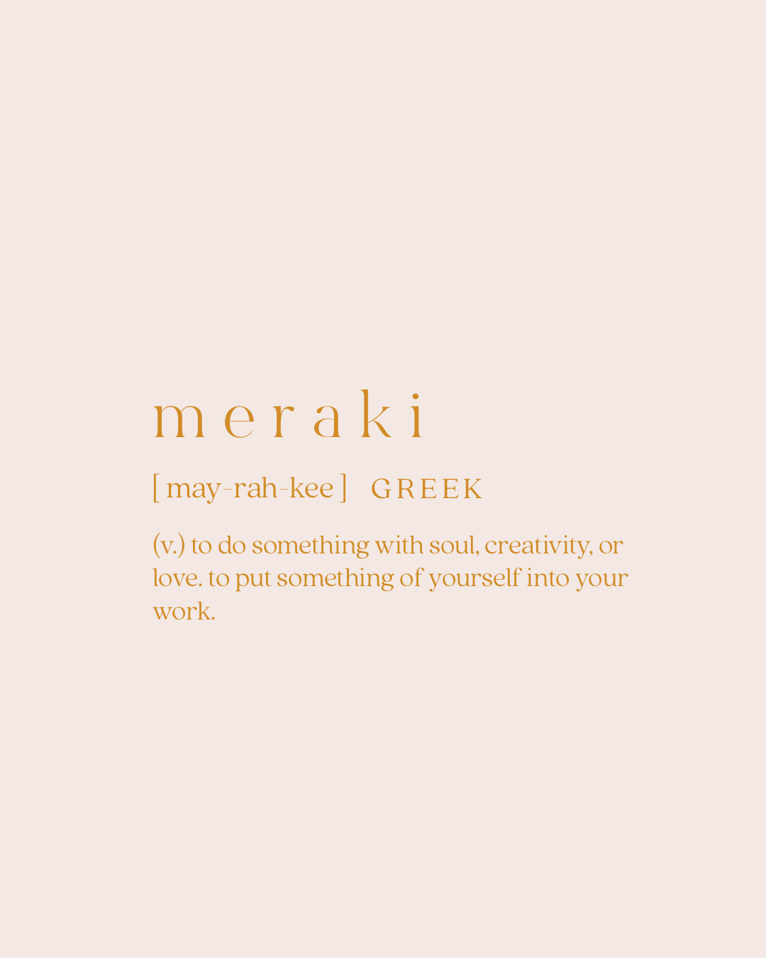 Meraki Greek Word