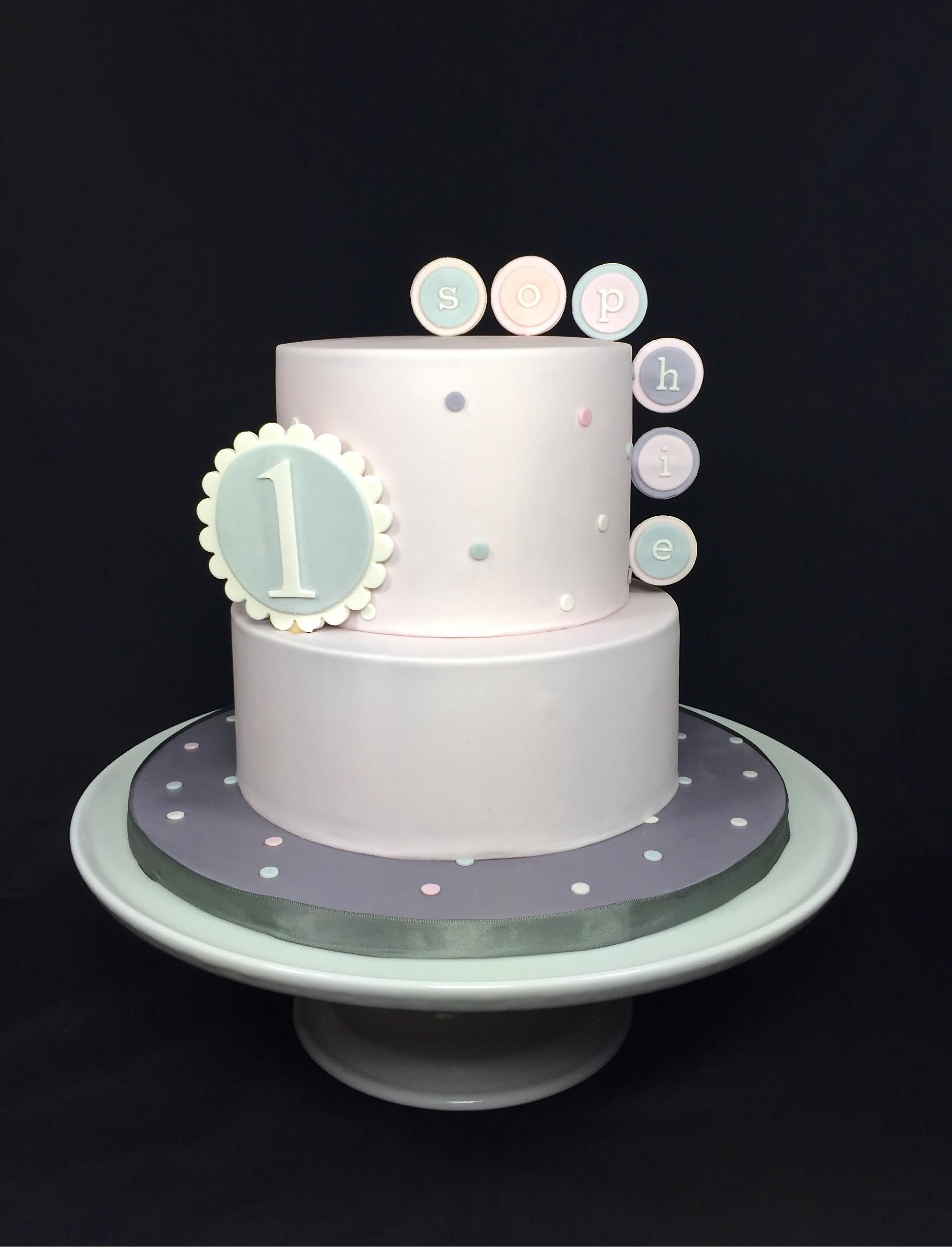 A dainty pastel birthday cake designed by Layer After Layer cake