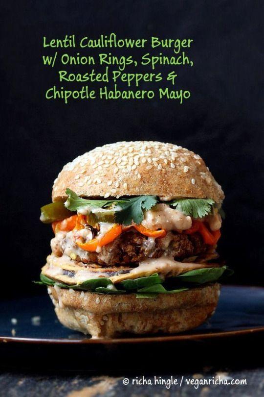 Lentil cauliflower burger