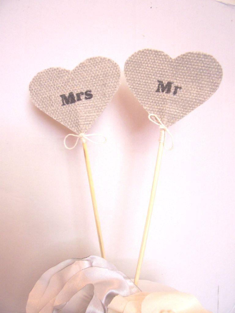 Mr and mrs rustic wedding cake topper country wedding country chic