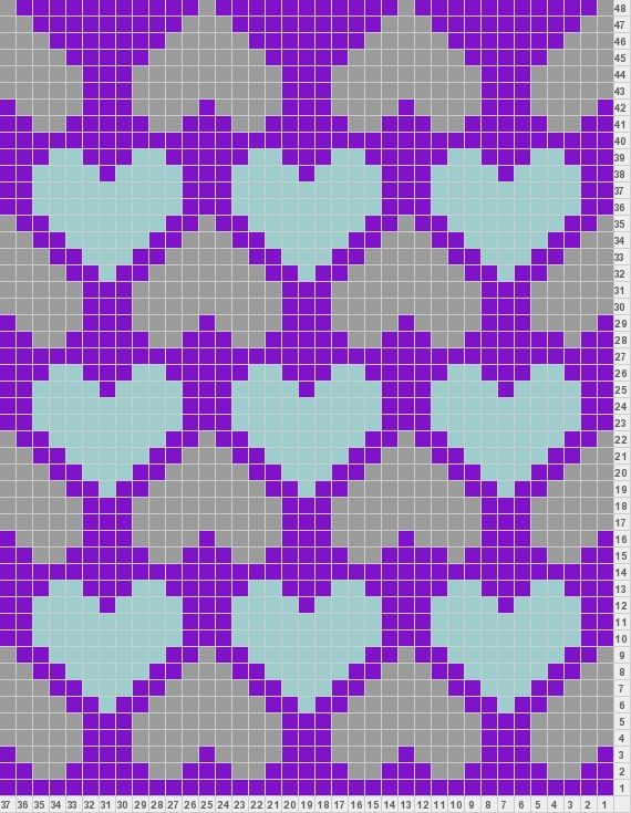 Heart Chart This site also lets you design your own knitting ...