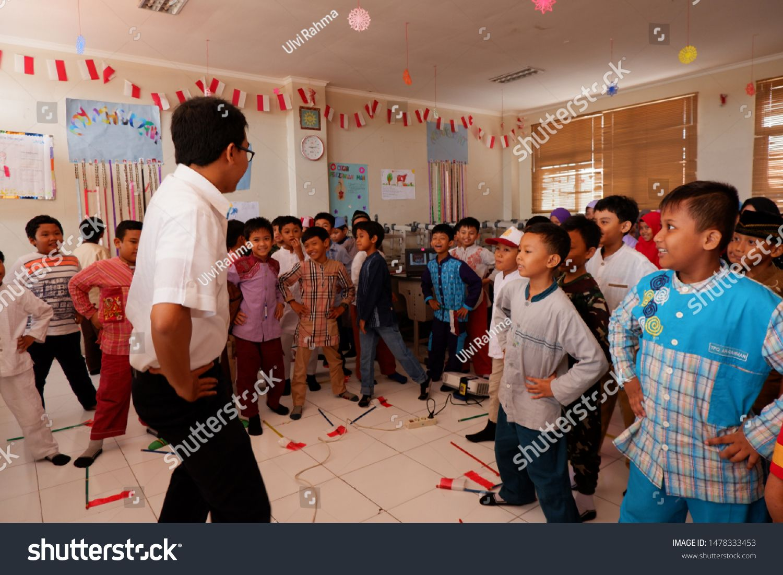 Surabaya, Indonesia 鈥?20Circa November 2018 Kids are