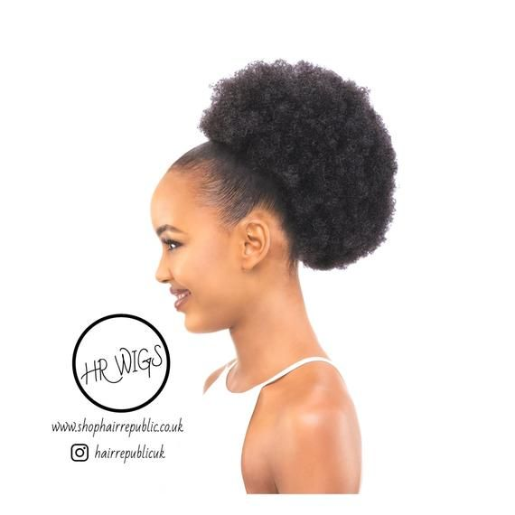 Photo of Afro Kinky Curly Drawstring Ponytail Extensions