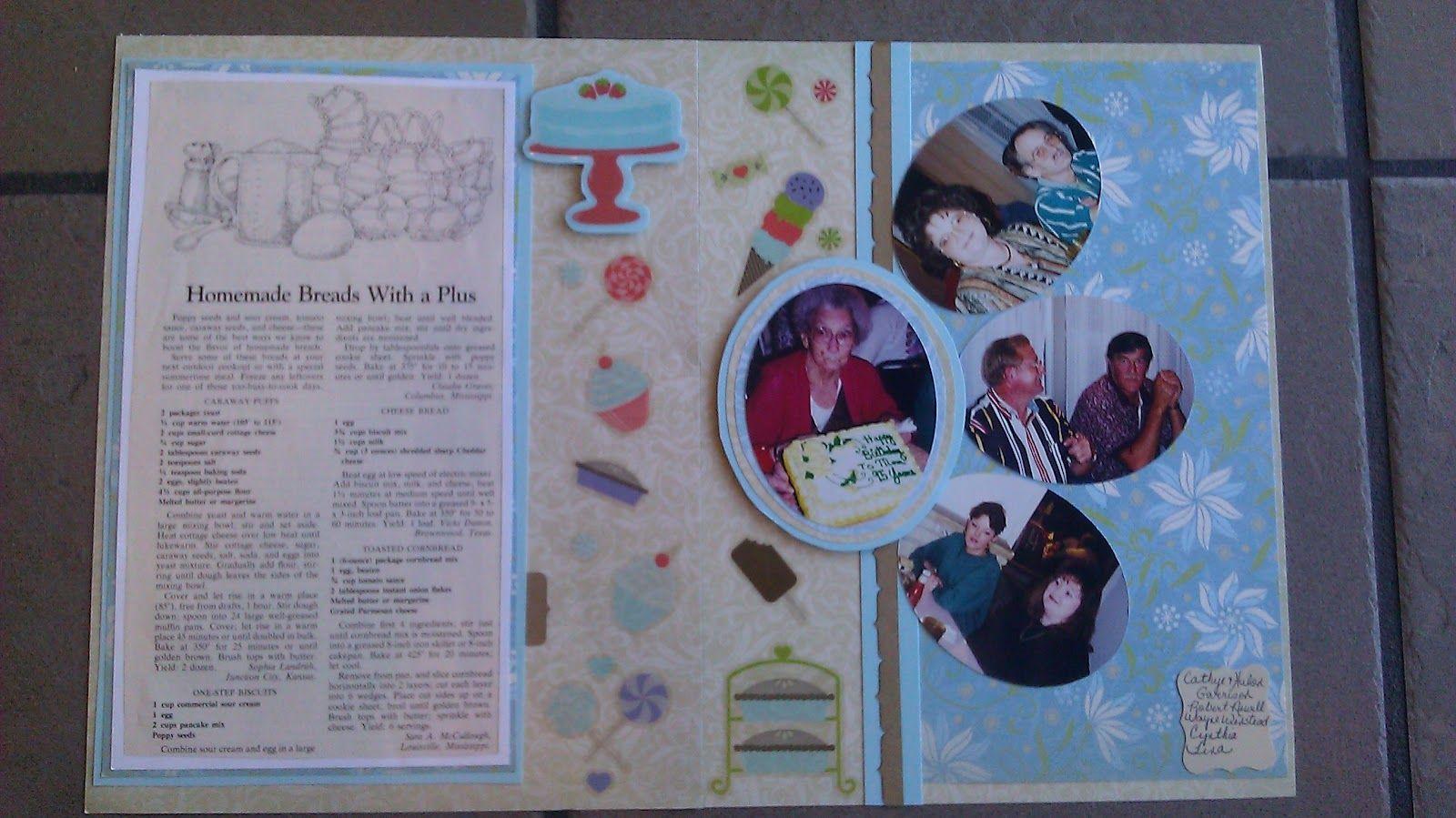 Grandma and Birthdays Scrapbook Page Layout...