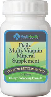 A QUALITY MULTIVITAMIN  is recommended when following a calorie restricted diet. With calorie restriction, it becomes more difficult to obtain an adequate amount of vitamin and minerals from your food intake. We therefore recommend that you take the Medi-Health multivitamin to help avoid vitamin or mineral deficiencies.
