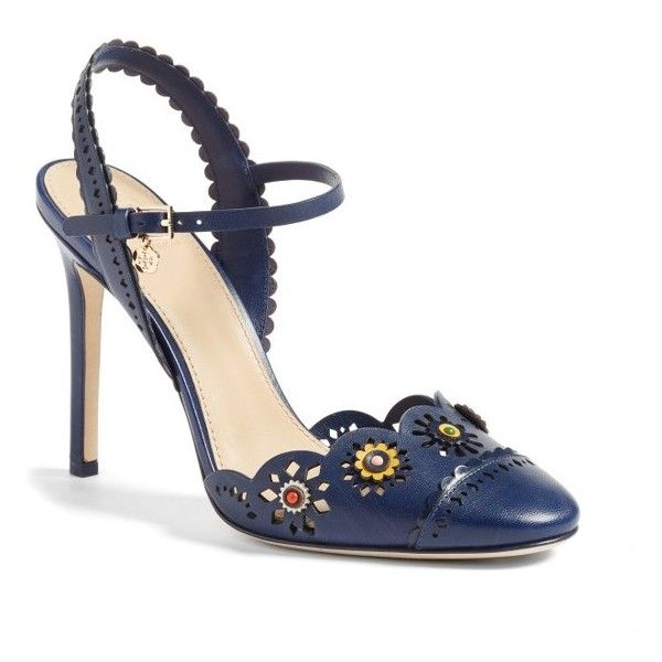 514c0b3209547 Women s Tory Burch Marguerite Embellished Slingback Pump (20.465 RUB) ❤  liked on Polyvore featuring