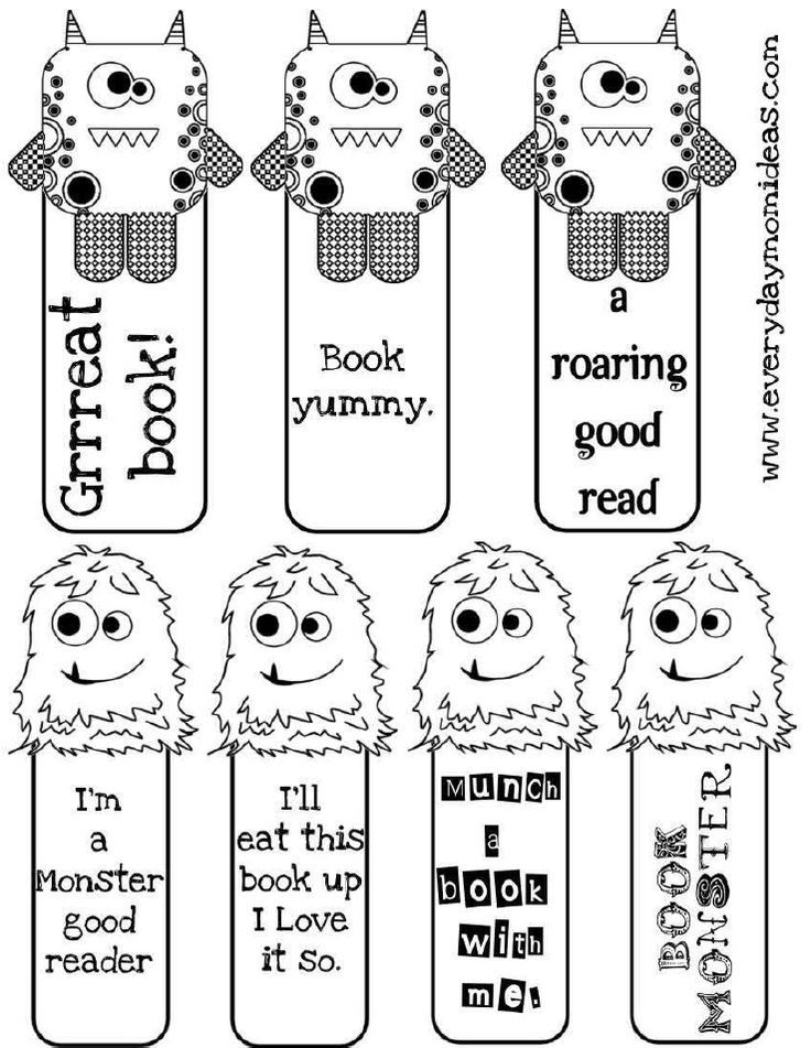 free printable bookmarks to color bookmarks let your kids color them - Halloween Bookmarks To Color