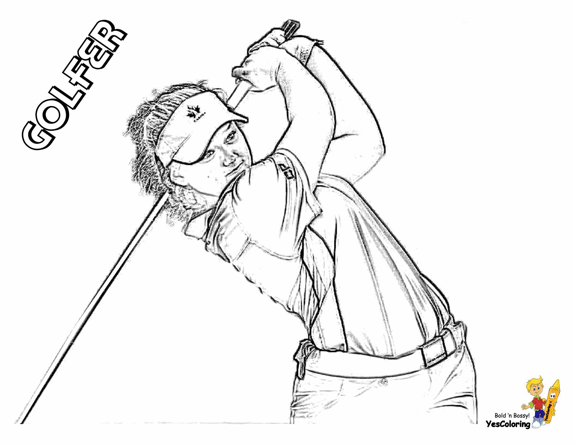 Gallant Golf Coloring Pages Ladies Golf Sports Coloring Pages