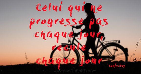 """Citation de Confucius sur la progression ou le progrès: """" Celui qui ne progresse pas chaque jour, recule chaque jour."""" Cela évoque ce devoir d'apprentissage"""