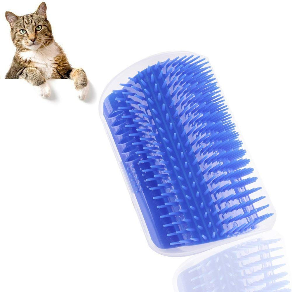 Cat Toys Cat Self Groomer Pet Brush Wall Corner Massage Comb With Catnip Convenient Safety Pet Massager Cat Hair Care Great Gift Ideas Cat Grooming Cat T