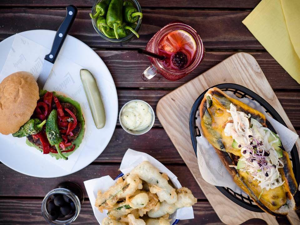 Chorizo Burger & Hot Dog