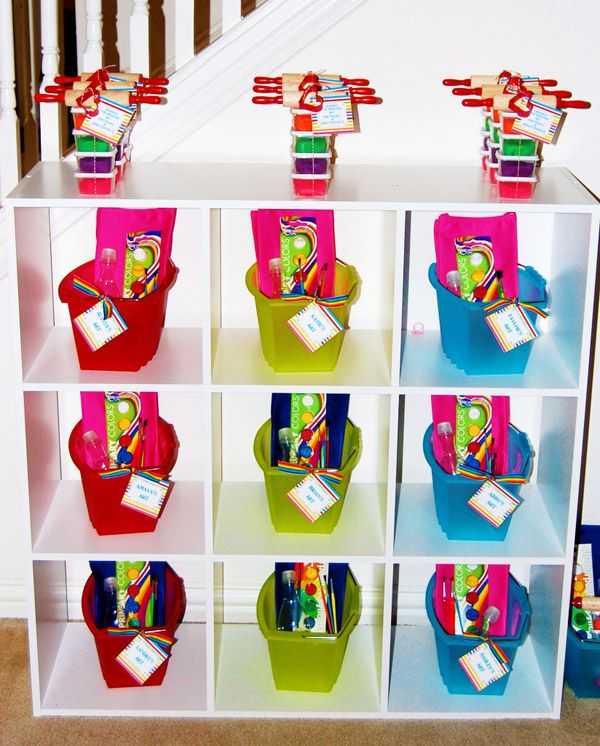 """""""Picasso"""" party favors!!  Release your inner artist!"""