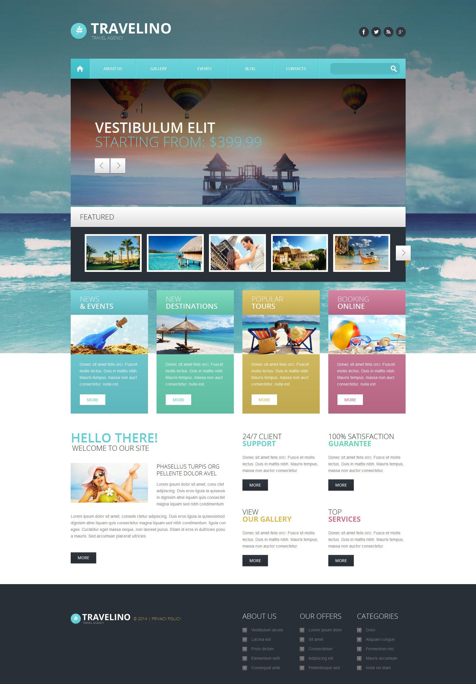 Travel Agency Responsive WordPress Theme | Wordpress template ...