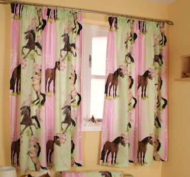 Horse Curtains For Bedroom.Girls Curtains Horse And Pony Girls Bedroom Curtains