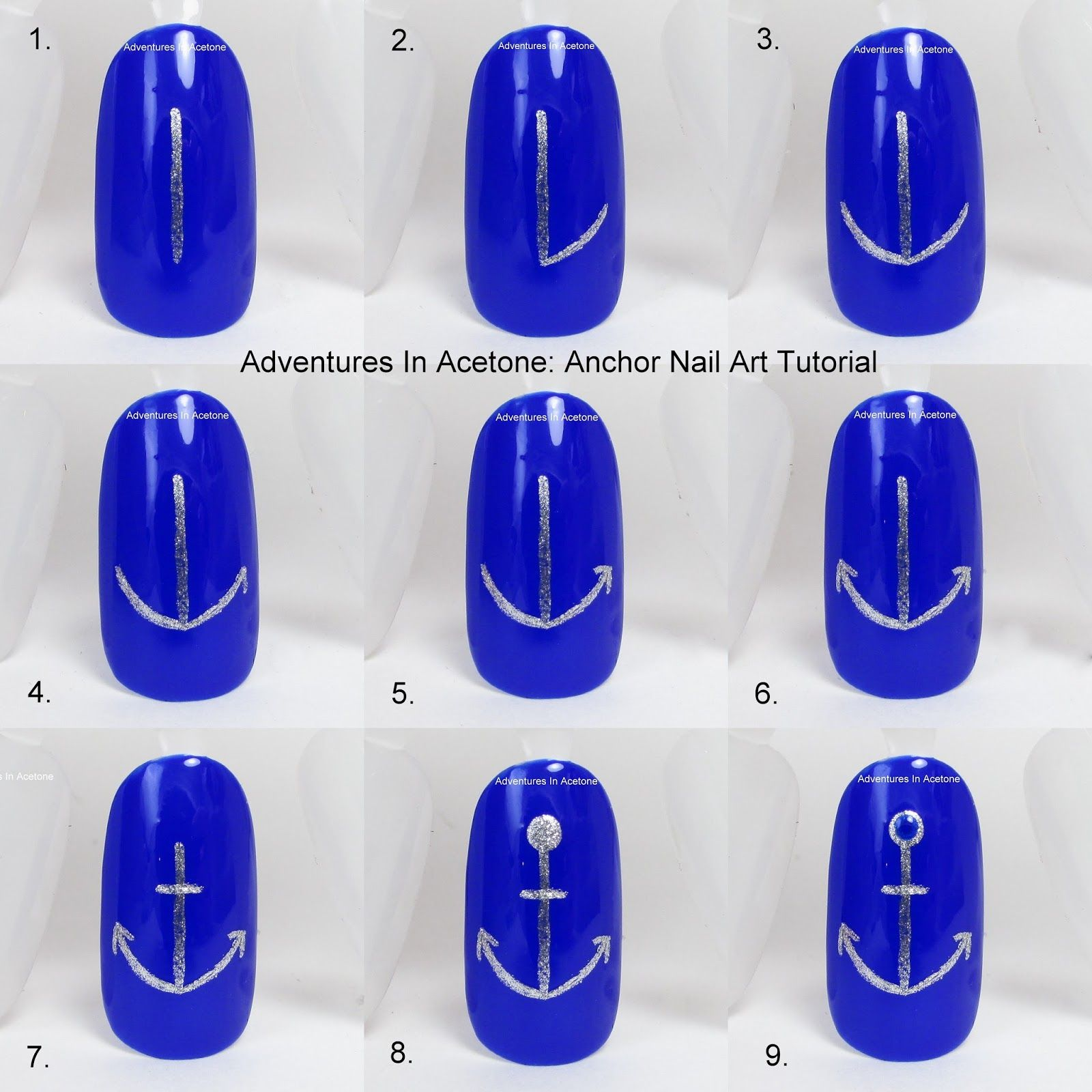 Tutorial Tuesday Anchor Nail Art Nails In 2018 Pinterest