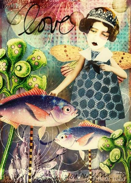 Love © Beth Todd - All Rights Reserved Created with Tumble Fish Studio ' Starlight' @ MischiefCircus.com. A digital image kit for your art, collage, mixed media art and scrapbooking. #photomanipulation #digital #art #scrapbook #collage #artjournaling #atc