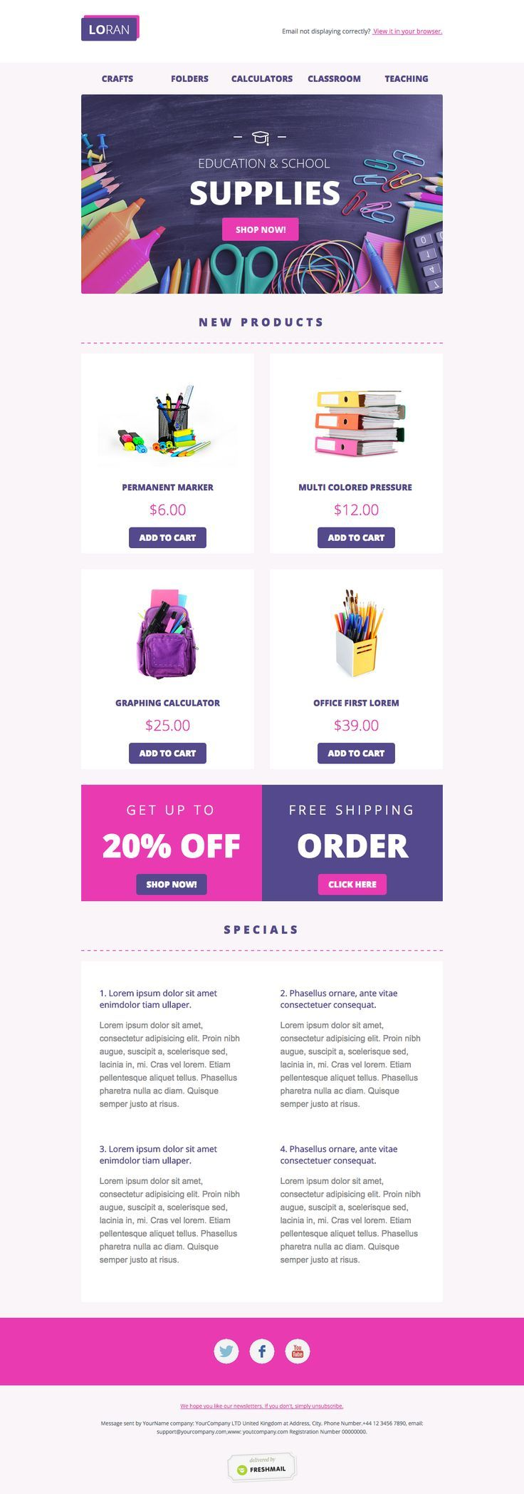 Office Depot E Commerce Newsletter Design Ideas Examples For Your Inspiration Email T Newsletter Templates Email Template Design Email Newsletter Template