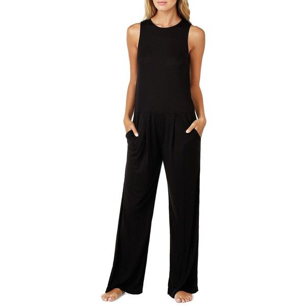 acfc63876c37 DKNY Women s Solid Wide-Leg Jumpsuit ( 88) ❤ liked on Polyvore featuring  jumpsuits