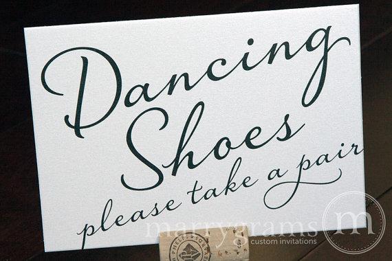 Dancing Shoes Wedding Sign Flip Flops Basket Sign Wedding Etsy Cards Sign Wedding Wedding Program Sign Flip Flop Basket