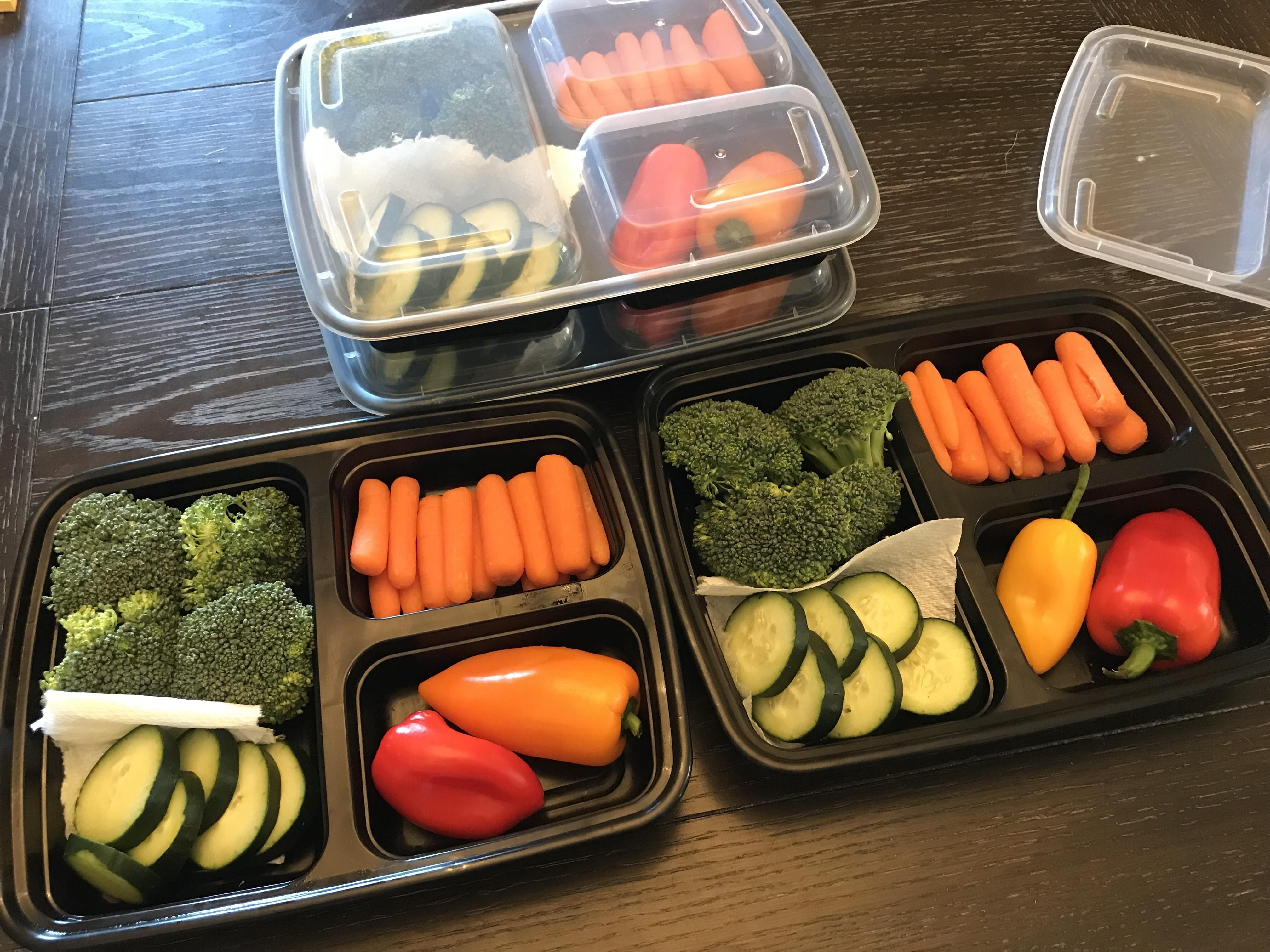 Did some veggie prepping for the girlfriend this week