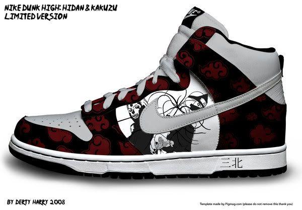 Hidan shoes! | Cute nike shoes, Naruto