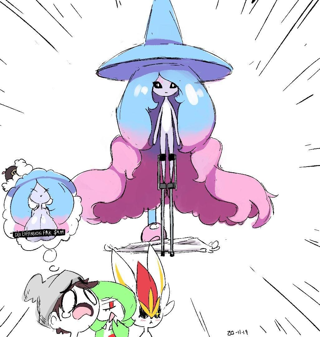 Gardevoir Milk here's a hatterene in stilts, as requested in a vp