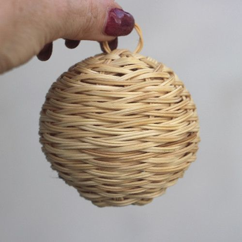 Decorative Woven Balls Vánoční Baňka Ozdobachristmas Tree Decorationrattan Weaving