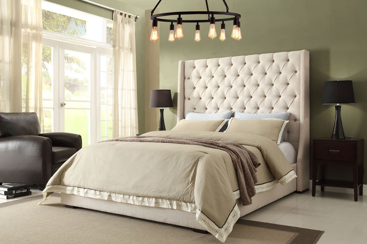Queen King Bed Dimnd Parkave 1 High Headboard Beds