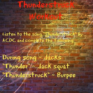 Thunderstruck workout snap ideas workout songs workout one