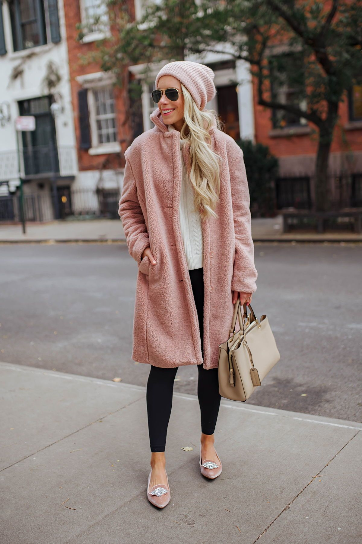 Katie S Bliss New York City Fashion Blogger Nyc Blog Pink Coat Outfit Coat Outfit Casual Pink Winter Coat [ 1800 x 1200 Pixel ]