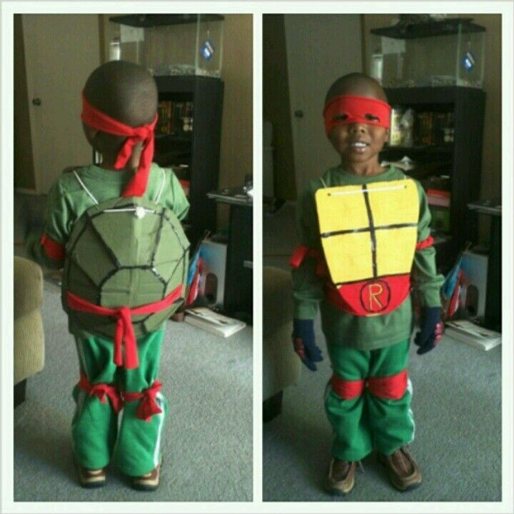 Made my sons ninja turtle costume what i made pinterest homemade ninja turtle costume this little guy looks awesome solutioingenieria Gallery