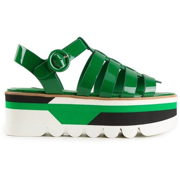Dolce & Gabbana 'Bubble' gladiator platform sandals (2.115 BRL) ❤ liked on Polyvore featuring shoes, sandals, green, green sandals, ankle tie sandals, ankle wrap sandals, platform sandals and open toe gladiator sandals