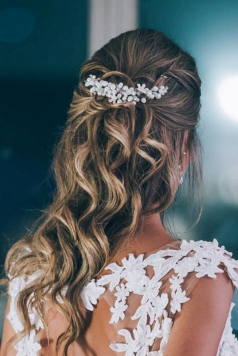 10 Consejos Para Un Peinado De Novia 10 Puntos Peinados De Casamiento Peinados De Novia Sencillos Y Peinados De Novia Semirecogidos