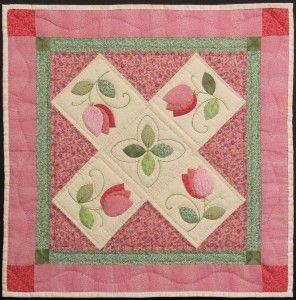 Free Appliqué Tulip Quilt Pattern: Just click on the word pattern ... : quilting applique patterns free download - Adamdwight.com