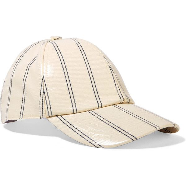 97aac4549b0 Acne Studios Camp striped coated-twill baseball cap ( 155) ❤ liked on  Polyvore