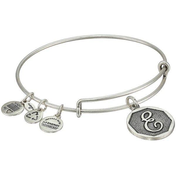 Alex And Ani Initial E Charm Bangle Bracelet 28 Liked On Polyvore