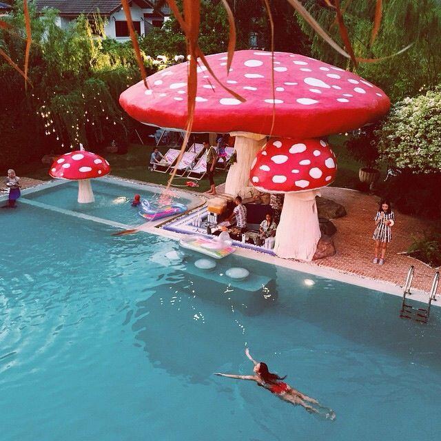 sretsisparty giant toadstools at poolside images pinterest mushrooms indoor playground. Black Bedroom Furniture Sets. Home Design Ideas