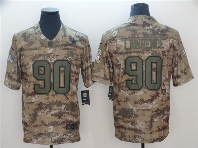 finest selection c9536 92d8f Dallas Cowboys #90 DeMarcus Lawrence 2018 Camo Salute To ...