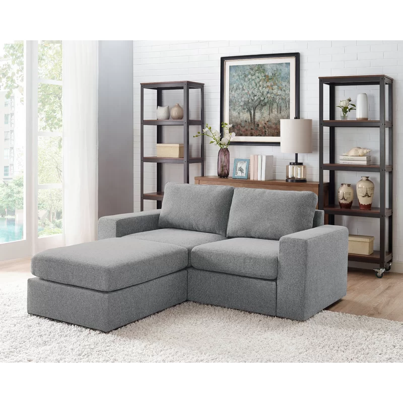 Gosnell 68 Reversible Modular Sectional With Ottoman Small