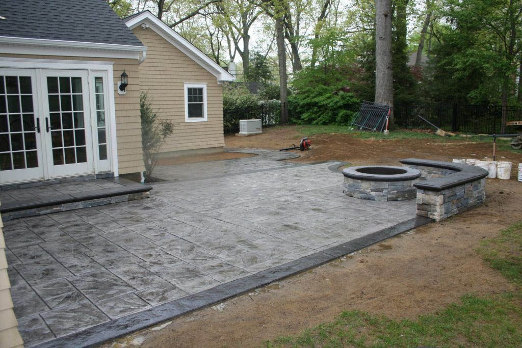 Block Patio Design Ideas St Concrete Backyard Concrete Patio Designs Poured Concrete Patio