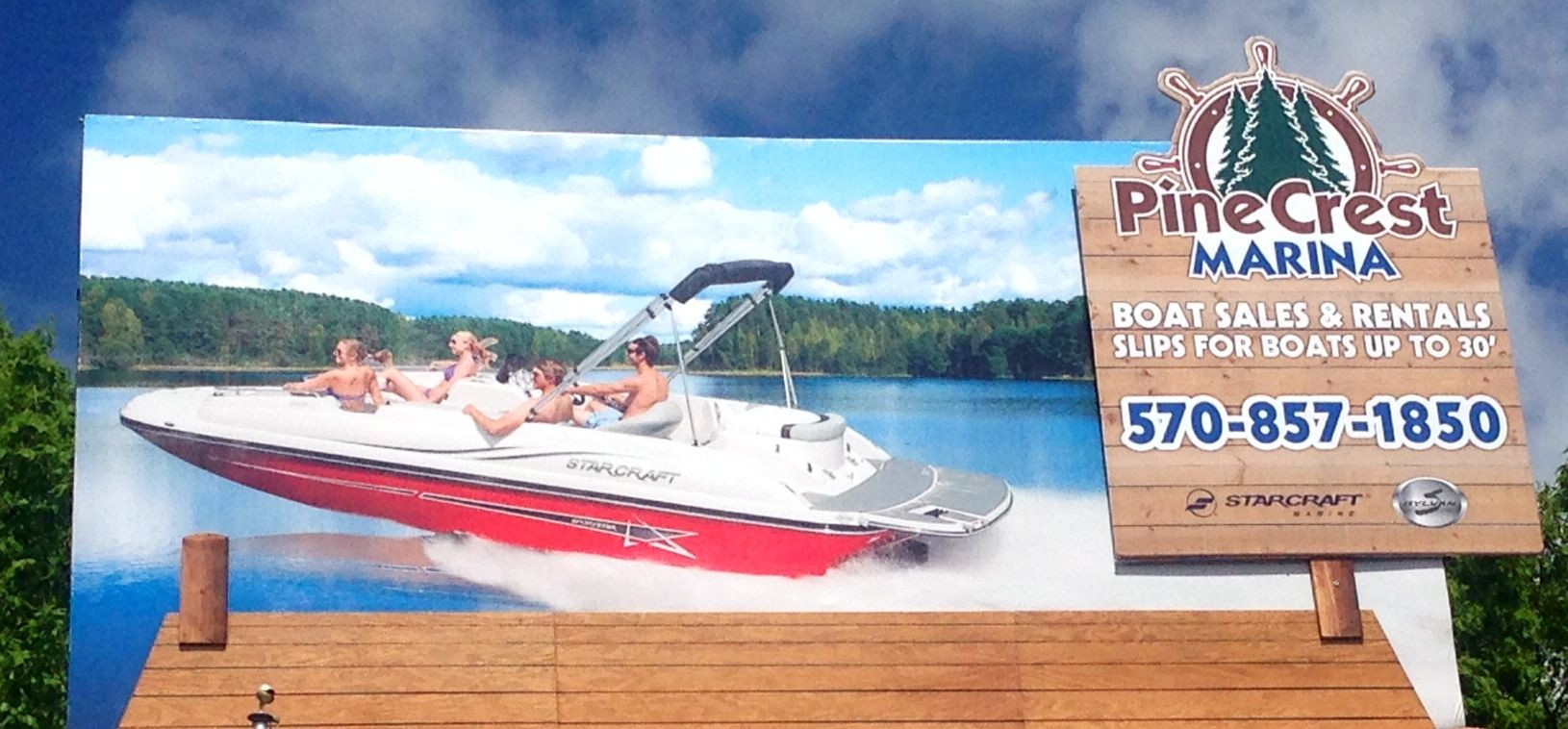 Pine crest marina boat sales and rentals on lake
