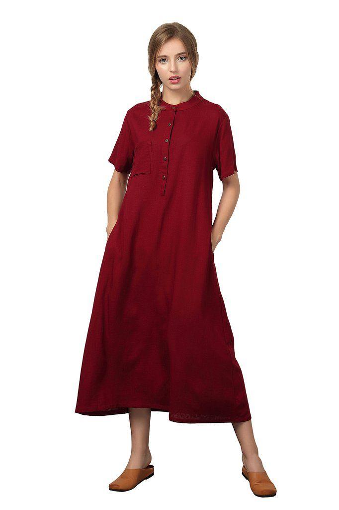 15e0e9d584a  Oversize  Linen Cotton  Plus size  Long Clothing  Loose Custom made dress