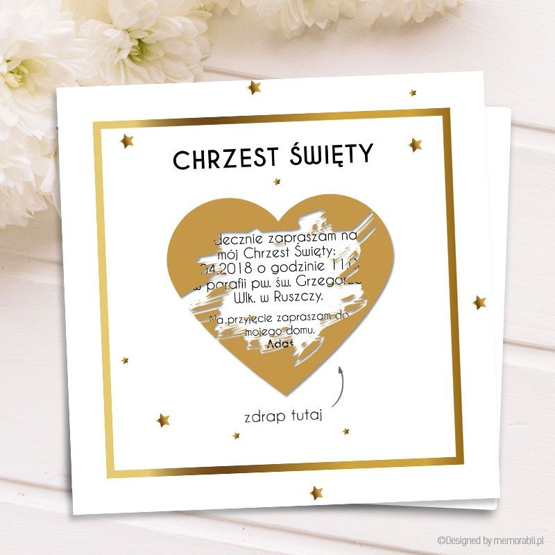 Zaproszenie Na Chrzest Swiety Kartka Zdrapka Valentine Frame Told You So