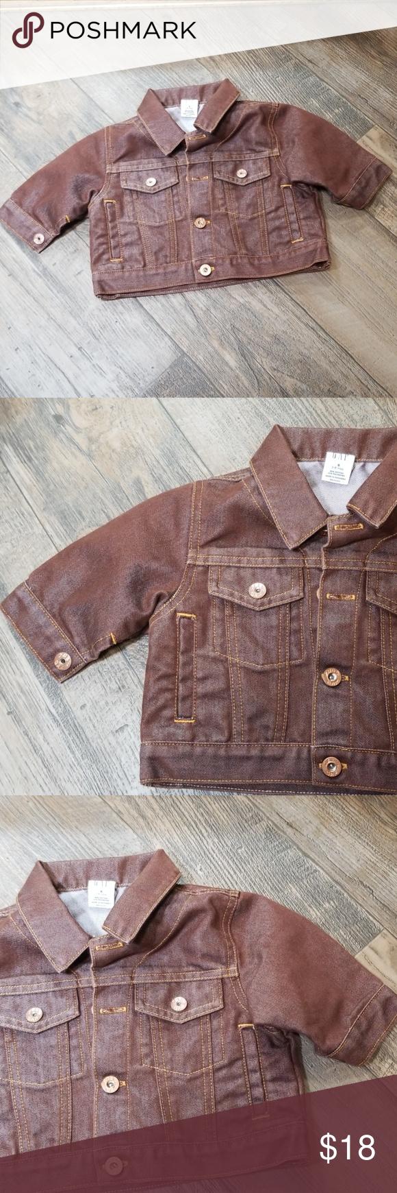 Vintage Baby Gap Brown Jean Jacket Brown Jean Jacket Brown Jeans Jean Jacket [ png ]