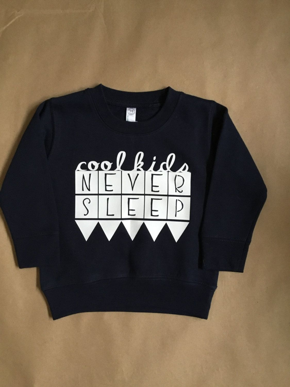 Cook Kids Never Sleep Toddler Navy Crew Neck Sweatshirt by KickyWiggles on Etsy