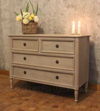 Andy Classic Gustavian Chest Of Drawers Antique