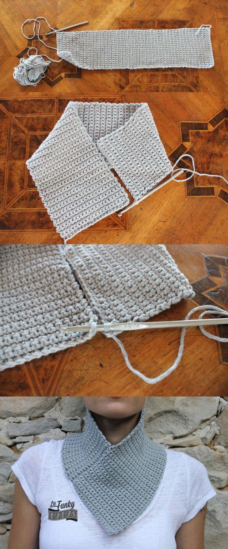 scaldacollo uncinetto tutorial   Cuellos tejidos en lana   Pinterest ...