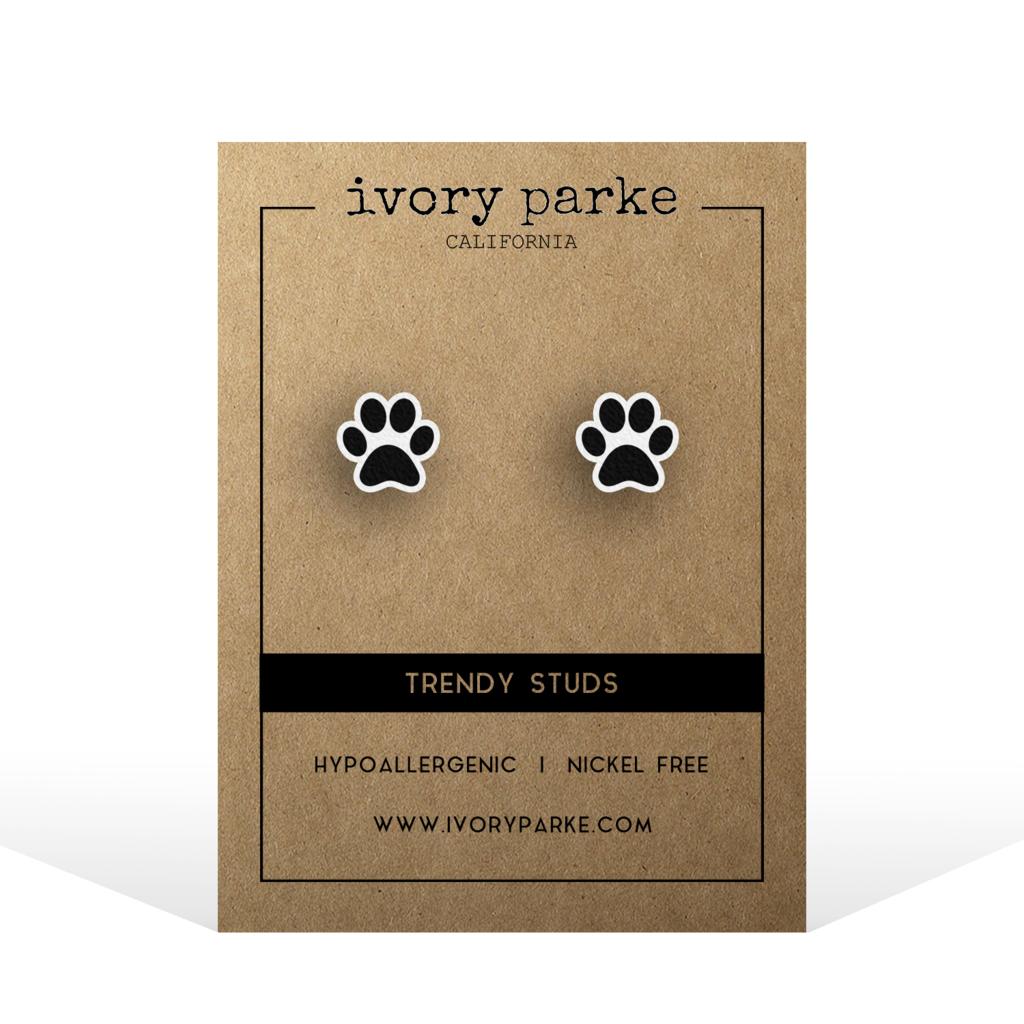 stud earrings Paws Handmade Dog Nickel Free Birthday Gift Dog Lover