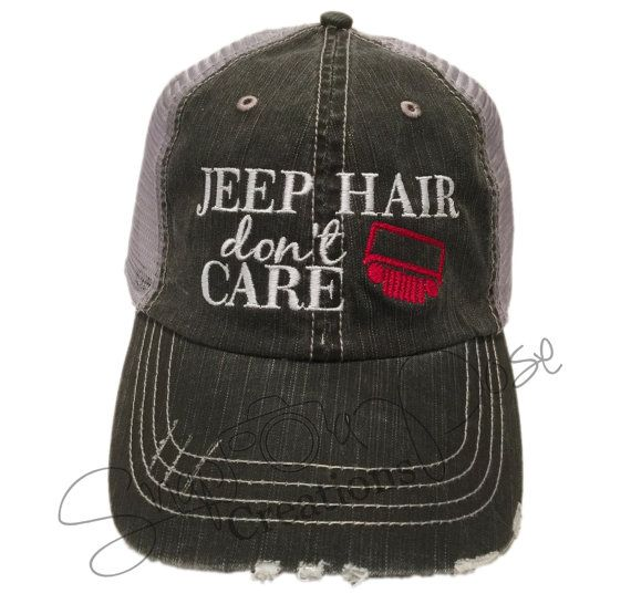 FREE SHIPPING Jeep Hair Don t Care Trucker by Snapaposecreations ... 3142d6c312b4
