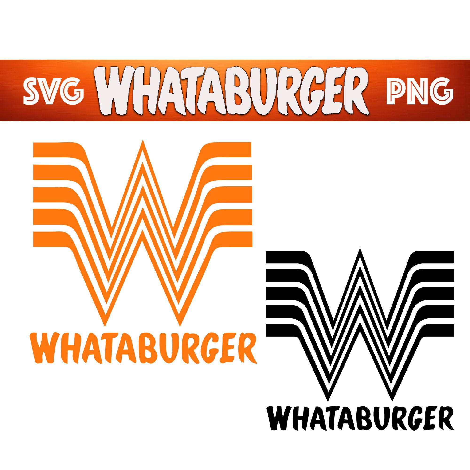 Whataburger Svg Png Black White Orange Transparent Background Set Png Clipart Digital Download Tumblers Clip Art Clipart Black And White Black And White